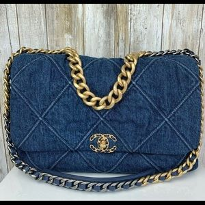 SOLD OUT EVERYWHERE 20S Chanel 19 Maxi Denim Bag